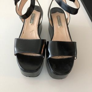 Prada ankle strap shoes